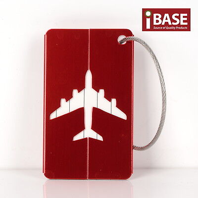 Luggage Tag Aluminium Travel Baggage Suitcase Identity Address Name Label Red