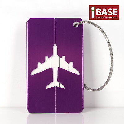 Luggage Tag Aluminium Travel Baggage Suitcase Identity Address Name Label Purple