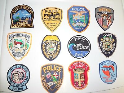 Lot 20 Florida Police Patches Old/New