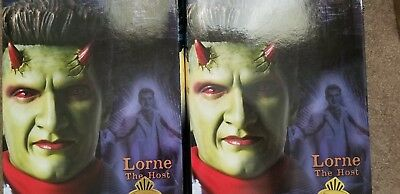 Buffy Angel sideshow exclusive Lorne 2 figure lot NIB. Yellow and blue suits