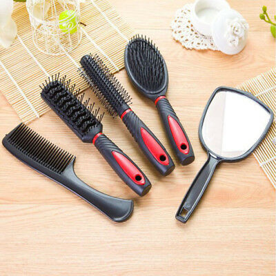 5pcs/Set Women Mirror Hair Brush Comb Set With Mirror &Stand Blister Pack bEAUTY