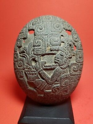 Pre-Columbian  Carved Stone  Zapotec turtle shell 200DC -1200DC