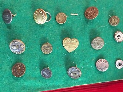 15 x Old vintage brass coverall overalls jean Railroad Train Engine Buttons N&w