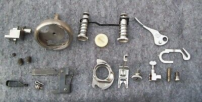 Singer 500A Sewing Machine Bobbin Case, Shuttle Hook, Needle Clamp, & Misc Parts
