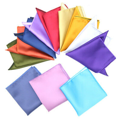 Lot 20 Pcs Solid Color 22CM Stain man handkerchief Pocket Square Wedding Party