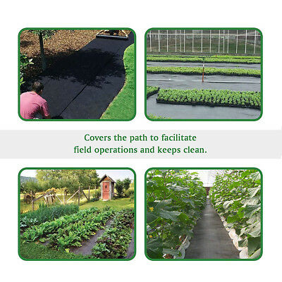 1.5m 8/20/30/50 Weed Control Fabric Membrane Landscape Mulch Garden Ground Cover