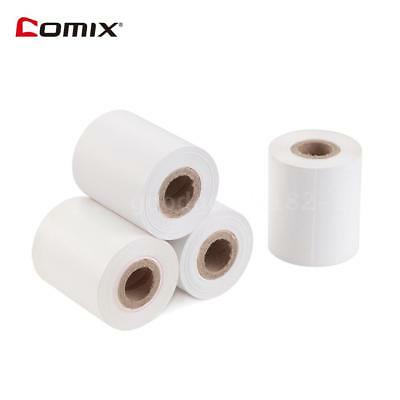 COMIX 57x50mm Thermal Paper Cash Register POS Receipt Papers 12m/Roll 4 Rolls