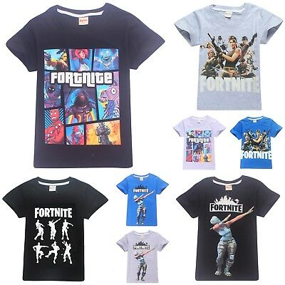 Kids Boys Fortnite Xbox Gaming 100% Cotton T Shirt Summer Top Tee 6-14 Years