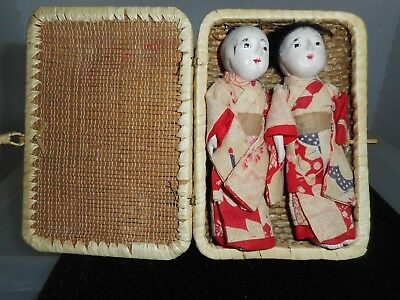 vintage Japanese dolls Taisho period circa 1920 condition is beautiful