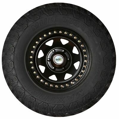 16X10 5 Stud Real Beadlock Black Steel Wheel. 30N Offset Suit Landcruiser