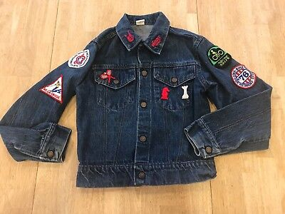 Vintage Jean Denim Jacket with Patches