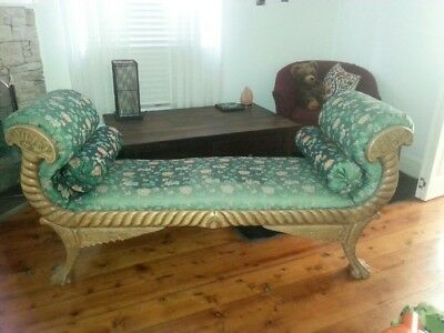 Original Antique Victorian Couch with Double Ended Scrolling