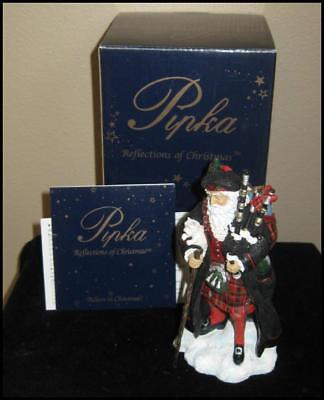 PIPKA Reflections of Christmas SCOTLAND SANTA, New in Box!