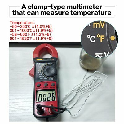 BM5268 Digital Clamp Meter Multimeter True RMS AC/DC Volt Amp Ohm Diode Tester A