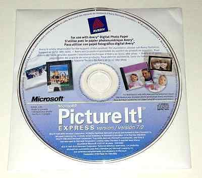 New Microsoft Picture It! Express 7.0 for Windows XP, Vista, 7 and 8 (32/64) PC