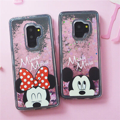 Cartoon Liquid Glitter Mickey and Minnie Shockproof Case For Samsung Note 9 J A