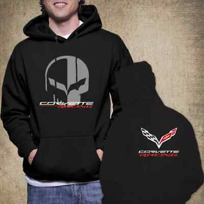 Chevrolet Corvette Racing Jake Skull New Hoodie Unisex