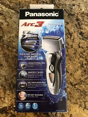 Panasonic Arc3 Electric Shaver Wet/Dry with Nanotech Blades (ES8103S)