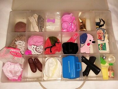 Large Vintage Lot Of 1960's Barbie Accessories With Case