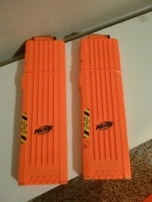 NERF N-Strike Elite 18 Dart Ammo Clip Magazine LOT of 2