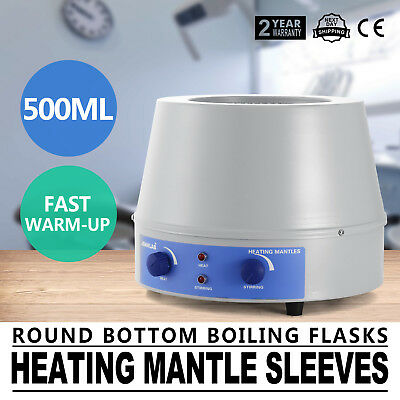 500ML Lab Heating Mantle Sleeves Electric Magnetic Stirrer Thermostatic Speed