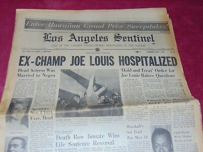 May 7, 1970 L.a. African American Newspaper: Inger Stevens Death, Joe Lewis Ill?