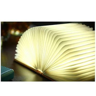Book Shape Folding LED Night Light USB Rechargeable Bedroom Desk Table Lamps New