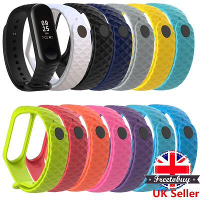 Silicon Wrist Strap WristBand Bracelet Replacement Band for XIAOMI MI Band 3 UK