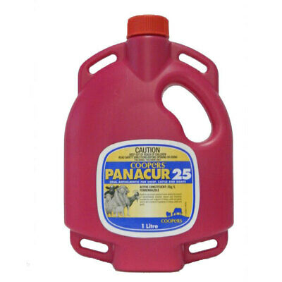 Panacur 25 - Oral Drench Wormer Sheep Cattle Goats 1lt FREE POSTAGE