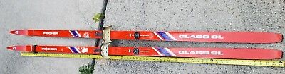 "Fischer Glass SL Skis DOVRE Bindings Rare VINTAGE 84"" 7 Ft Cross Country Lot VTG"