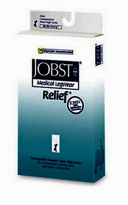Jobst Relif 30-40 mmhg medical compression stockings  L / black knee high   04