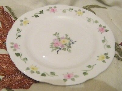 4x Lovely vintage tea plates floral pattern marked HAW hand painted 6½ ins wide