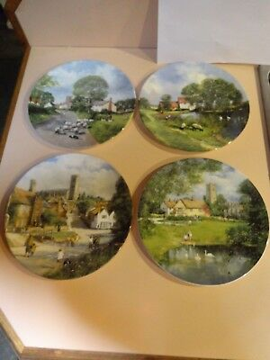 Royal Doulton collector plate set of 4.In The Footsteps of Constable.