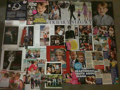 PRINCESS DIANA - Over 20 clippings - Prince William, Harry, George