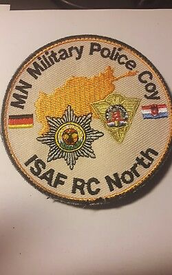 Original Patch ISAF RC NORTH  MN Military Police Coy