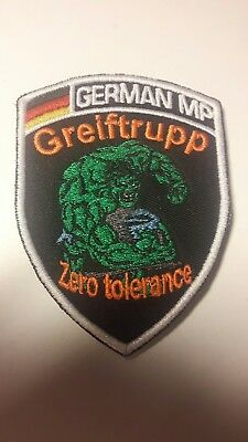 Original Patch German MP  Greiftrupp