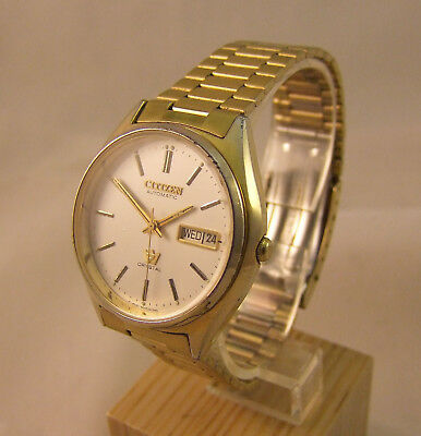 Herrenuhr Armbanduhr Citizen automatic goldfarben ***