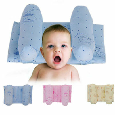 Newborn Infant for Anti Syndrome Soft Bed Baby Crib Flat Head Cot Pillow Velve