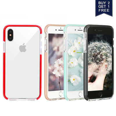 For iPhone XR 8Plus XS Max X 8 7 Case Clear Shockproof Bumper Protective Cover
