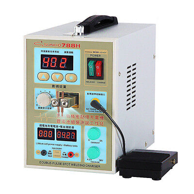 788H LED Dual Pulse Spot Welder 18650 Battery Charger 800A 0.1-0.2 mm