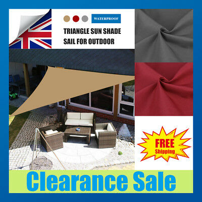 Sun Shade Sail Garden Patio Sunscreen Awning Canopy Screen 98% UV Block Greenbay