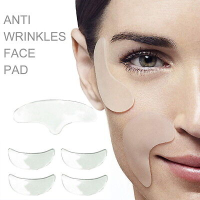 5PC Anti Wrinkle Eye Face Pad Reusable Face Lifting Silicone Overnight Invisible