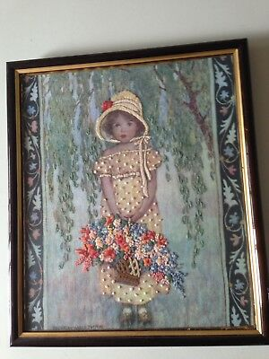 Rare Rebecca's Portrait Jessica Willcox Smith Embroidered Crewel Print
