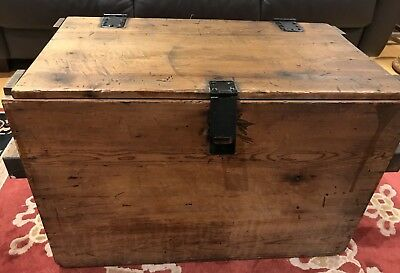 Antique Japanese Wooden Trunk - Chest / Coffee Table