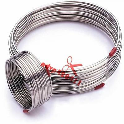 304 Stainless Steel Capillary Tube OD 3x0.5mm Length 1m Trachea Hose Coil New