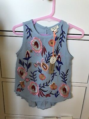 baby girl river island embroidered top 12-18 months
