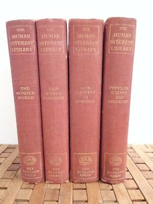 HUMAN INTEREST LIBRARY 1914 1st print antique book of knowledge