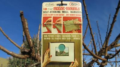 1970's Circa 18 Magic-Mounts Self Sticking Wall Hangers Cost 69c Kadco Trading C