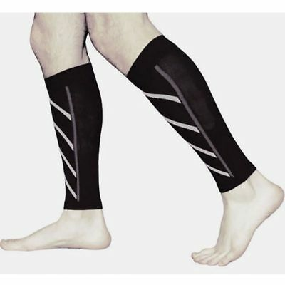 Compression Calf Sleeves Sports Running Leg Foot Support Brace Shin Ankle Socks