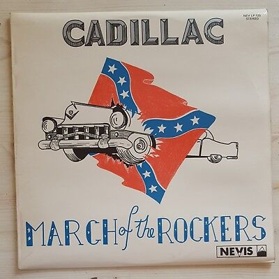 """12"""" LP Rockabilly CADILLAC - March of the Rockers NEVIS LP 125 LaminaTED! 1st."""